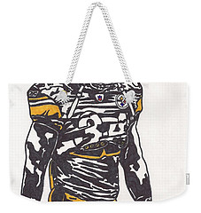 Weekender Tote Bag featuring the drawing Rashard Mendenhall 2 by Jeremiah Colley