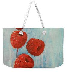Raspberries Weekender Tote Bag by Jane See