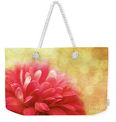 Raspberry Champagne  Weekender Tote Bag by Beve Brown-Clark Photography