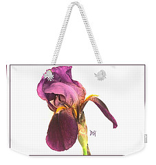 Raspberry Iris Weekender Tote Bag