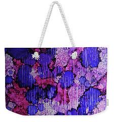 Weekender Tote Bag featuring the painting Raspberry Rain Ink #19 by Sarajane Helm