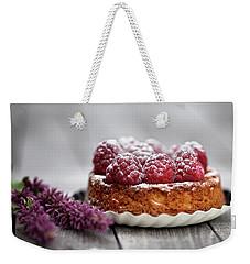 Raspberry Tarte Weekender Tote Bag by Nailia Schwarz