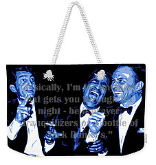Rat Pack At Carnegie Hall With Quote Weekender Tote Bag
