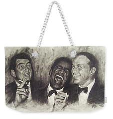 Rat Pack Weekender Tote Bag by Cynthia Campbell