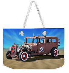 Weekender Tote Bag featuring the photograph Rat Rod On Beach 3 by Mike McGlothlen