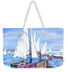 Rather Be Sailing Weekender Tote Bag