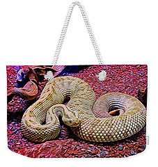 Rattlesnake In Abstract Weekender Tote Bag