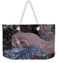 Rattlesnake Portrait Weekender Tote Bag