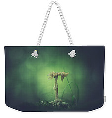 Weekender Tote Bag featuring the photograph Ravaged Shroom In The Land Of Small by Shane Holsclaw