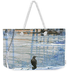 Raven About The Yellowstone Weekender Tote Bag by Ann Johndro-Collins