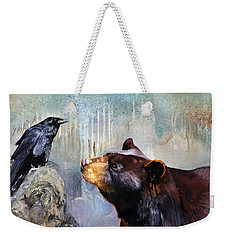 Raven And The Bear Weekender Tote Bag