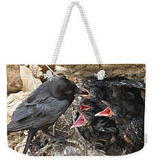 Raven Babies Breakfast Weekender Tote Bag