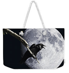 Raven Barking At The Moon Weekender Tote Bag