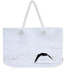Raven In The Snow Weekender Tote Bag