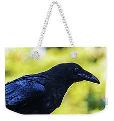 Weekender Tote Bag featuring the photograph Raven by Jonny D