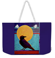 Raven Moon Weekender Tote Bag by Nancy Jolley