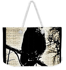 Raven On The Lookout Weekender Tote Bag
