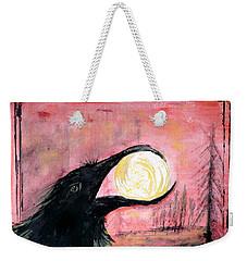 Raven Steals The Sun Weekender Tote Bag