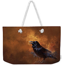 Weekender Tote Bag featuring the painting Raven by Theresa Tahara