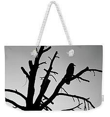 Raven Tree II Bw Weekender Tote Bag