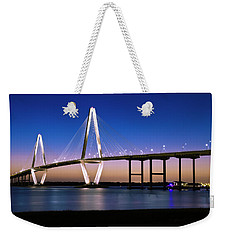 Weekender Tote Bag featuring the photograph Ravenel Bridge 2 by Bill Barber