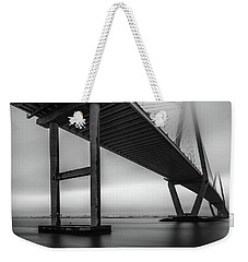 Ravenel Bridge November Fog Weekender Tote Bag