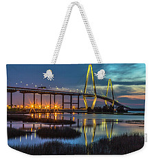 Ravenel Bridge Reflection Weekender Tote Bag