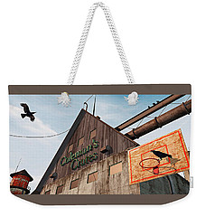 Weekender Tote Bag featuring the painting Game On by Peter J Sucy