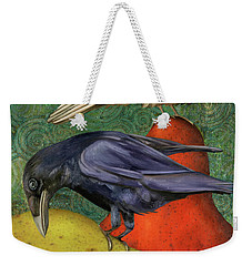 Ravens On Pears Weekender Tote Bag