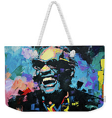 Weekender Tote Bag featuring the painting Ray Charles by Richard Day