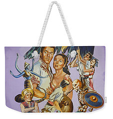 Weekender Tote Bag featuring the painting Ray Harryhausen Tribute Seventh Voyage Of Sinbad by Bryan Bustard