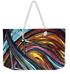 Weekender Tote Bag featuring the painting Ray Of Hope 2 by Harsh Malik