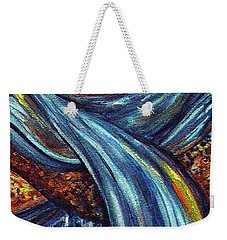Weekender Tote Bag featuring the painting Ray Of Hope 3 by Harsh Malik