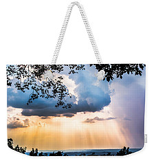 Weekender Tote Bag featuring the photograph Rays Of Color by Parker Cunningham