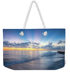 Weekender Tote Bag featuring the photograph Rays Over The Reef by Debra and Dave Vanderlaan