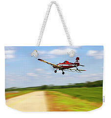 Weekender Tote Bag featuring the photograph Razorback Flyby - Crop Duster - Ag Pilot by Jason Politte