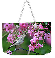 Weekender Tote Bag featuring the photograph Reach For It by Trina Ansel