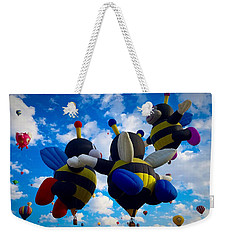 Hot Air Balloon Cheerleaders Weekender Tote Bag