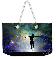 Weekender Tote Bag featuring the photograph Reach For The Stars by Delphimages Photo Creations