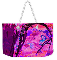Reaching Beyond The Blue Weekender Tote Bag by Samantha Thome