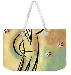 Weekender Tote Bag featuring the painting Reaching For The Star by Leon Zernitsky