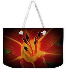 Weekender Tote Bag featuring the photograph Reaching For The Sun by Judy Hall-Folde