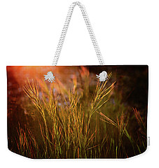 Weekender Tote Bag featuring the photograph Reaching For The Sunset Dark by Mary Jo Allen