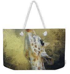 Reaching Giraffe Weekender Tote Bag