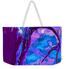 Reaching Into Blue Weekender Tote Bag by Samantha Thome