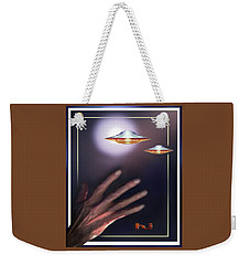 Weekender Tote Bag featuring the photograph Reaching  Out  In  Wane. . .  by Hartmut Jager