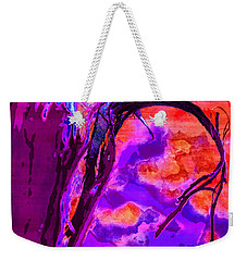 Reaching To Purple Clouds Weekender Tote Bag by Samantha Thome
