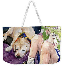 Read To Me Weekender Tote Bag by Molly Poole