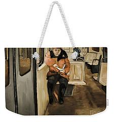 Reader On The Metro Weekender Tote Bag