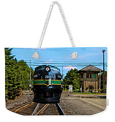 Weekender Tote Bag featuring the painting Reading 284  Train by Iconic Images Art Gallery David Pucciarelli